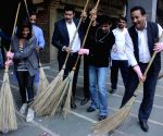 Kamaal R Khan participates in Clean India Campaign