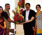 Makarand Anaspure with Maharashtra Governor