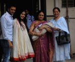 Ritesh Deshmukh and Genelia snapped with their new born baby