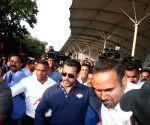 Salman Khan arrives at Mumbai Airport