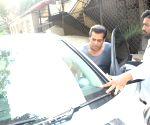 Salman Khan seen at a Bandra studio