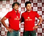 Milind Soman and Randeep Hooda during a programme