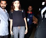 Anushka sharma leaves for an ad film shoots