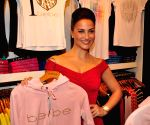 Daisy Shah, Eli Avram and Hasleen Kaur at the BeBe store launch