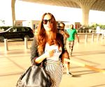 Neha Dhupia spotted at Mumbai Airport