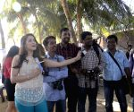 Swimathon 2015 promotion - Virdhawal Khade, Rashmi Nigam