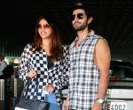 : Mumbai : Aditya Seal With Girl Friend Spotted at Airport Departure in Mumbai