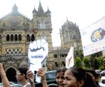 Children protest on the eve of World No-Tobacco Day