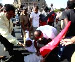 CPI members protest in support of Govind Pansare and wife