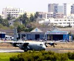 Hercules C130J lands at Juhu Airport