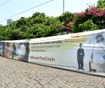 Mumbai 'dons' 55-ft-long face-mask on Charlie Chaplin's 132nd birth anniv