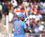 Mumbai ODI: India fold for 255 despite Dhawan's 74
