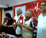 Teesta Setalvad at the launch of a dossier on Mahatma Gandhi's assassination