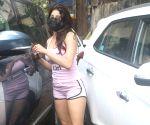 : Mumbai : Janhvi Kapoor Spotted Post Workout at Santacruz