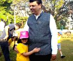 Maharashtra CM with his daughter