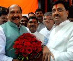 Maharashtra Congress chief felicitated at Tilak Bhavan