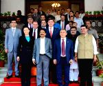 Maha CM, Governor with President of Tatarstan