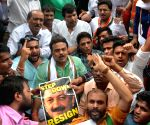 Congress, NSUI demonstration against Mumbai University