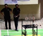 Robots play badminton