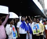 Students demonstrate against Smriti Irani