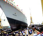 Navy's new warship put to sea