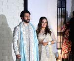 Newlyweds Varun-Natasha return to Mumbai from Alibaug