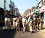 Free Photo: Bihar: Munger situation normal, shops open, police conducts flag march