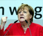 GERMAN MUNSTER MERKEL ELECTION RALLY