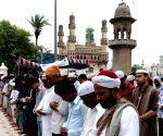 Muslims offering namaz