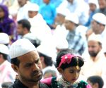 Muslims offer prayer on the occasion of Eid ul-Fitr at Bangalore