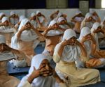 Muslims students practice Yoga