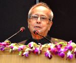 President Mukherjee during a programme at LBSNAA