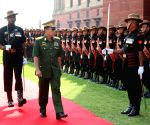 Vice Senior General Soe Win arrives in Delhi