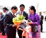 Myanmar President arrives in India