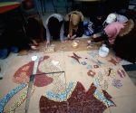 MIDEAST NABLUS PALESTINIAN GIRLS ART COURSES