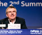 Thomas Bach attends the press conference of International Olympic Committee