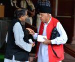 Farooq Abdullah, Shashi Tharoor at Parliament