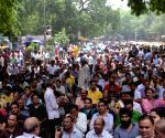 Bank's all- India strike - NOBW's demonstration