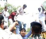 NSUI's demonstration over fuel price hike