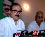 Tariq Anwar addressing a press confrence