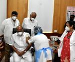 Free Photo: Nationalist Congress Party President SHARAD PAWAR takes COVID vaccine