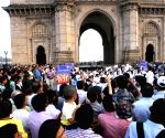 Navy Band performs at the Gateway of India