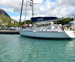Navy's new sailing vessel with all-woman crew reaches Mauritius (Lead) ()