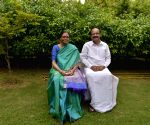 Vice Presidential candidate M Venkiah Naidu with his family