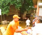NDRF distributes relief material in Maharashtra's flood hit Kolhapur