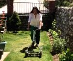 Lockdown diaries: Neena Gupta mows the lawn