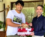 Neeraj gets puppy named 'Tokyo' as a gift from Bindra