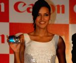 Neha Dhupia on new Canon cameras launch event at ITC Grand Maratha.