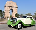 Vintages cars from around the world gather at India Gate