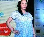 Pregnant woman walks the ramp